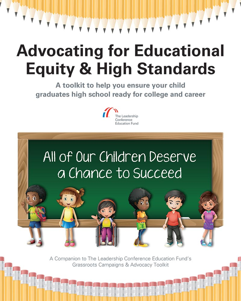 Advocating for Educational Equity & High Standards toolkit