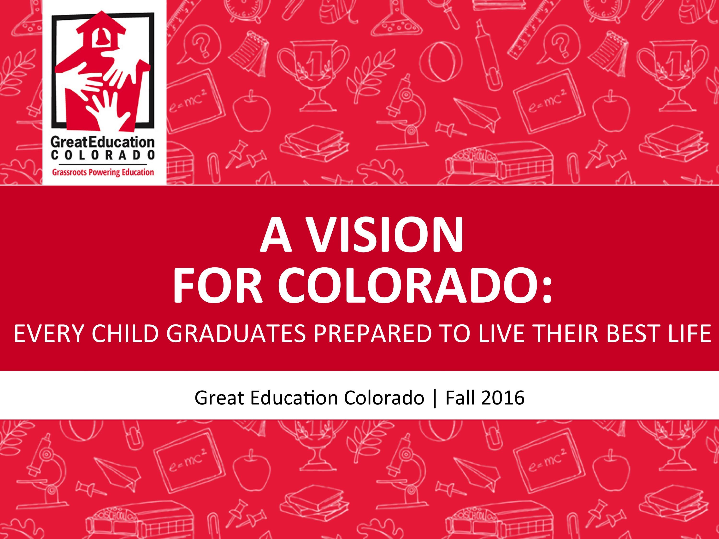 A Vision for Colorado