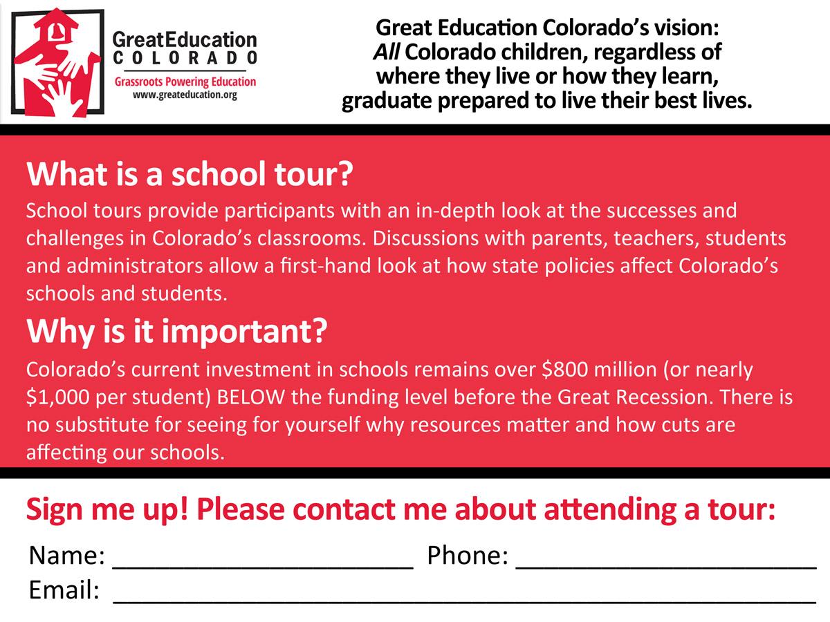 School Tours Postcard