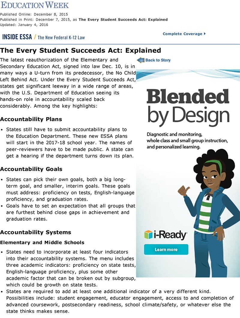 The Every Student Succeeds Act: Explained