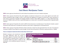Fact Sheet: Marijuana Taxes