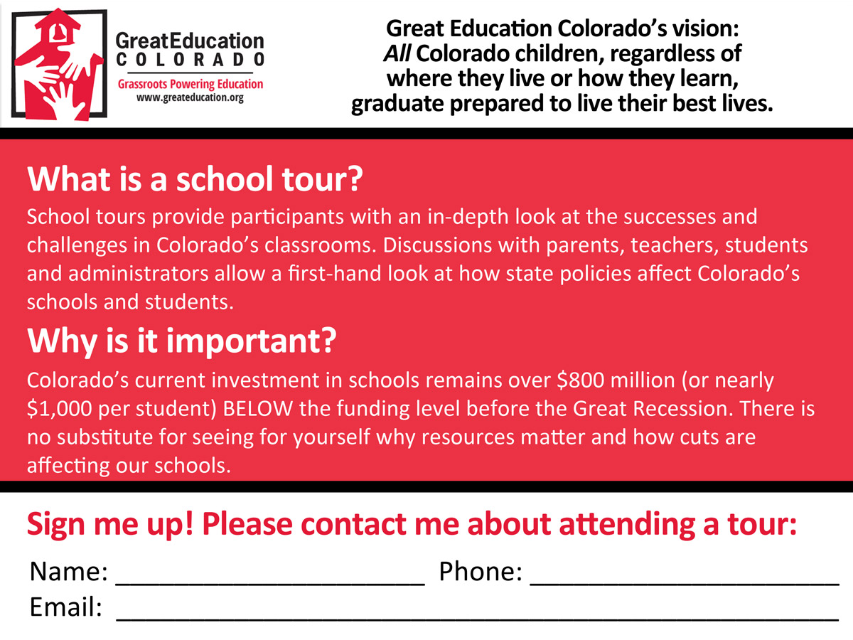 School Tours Postcard
