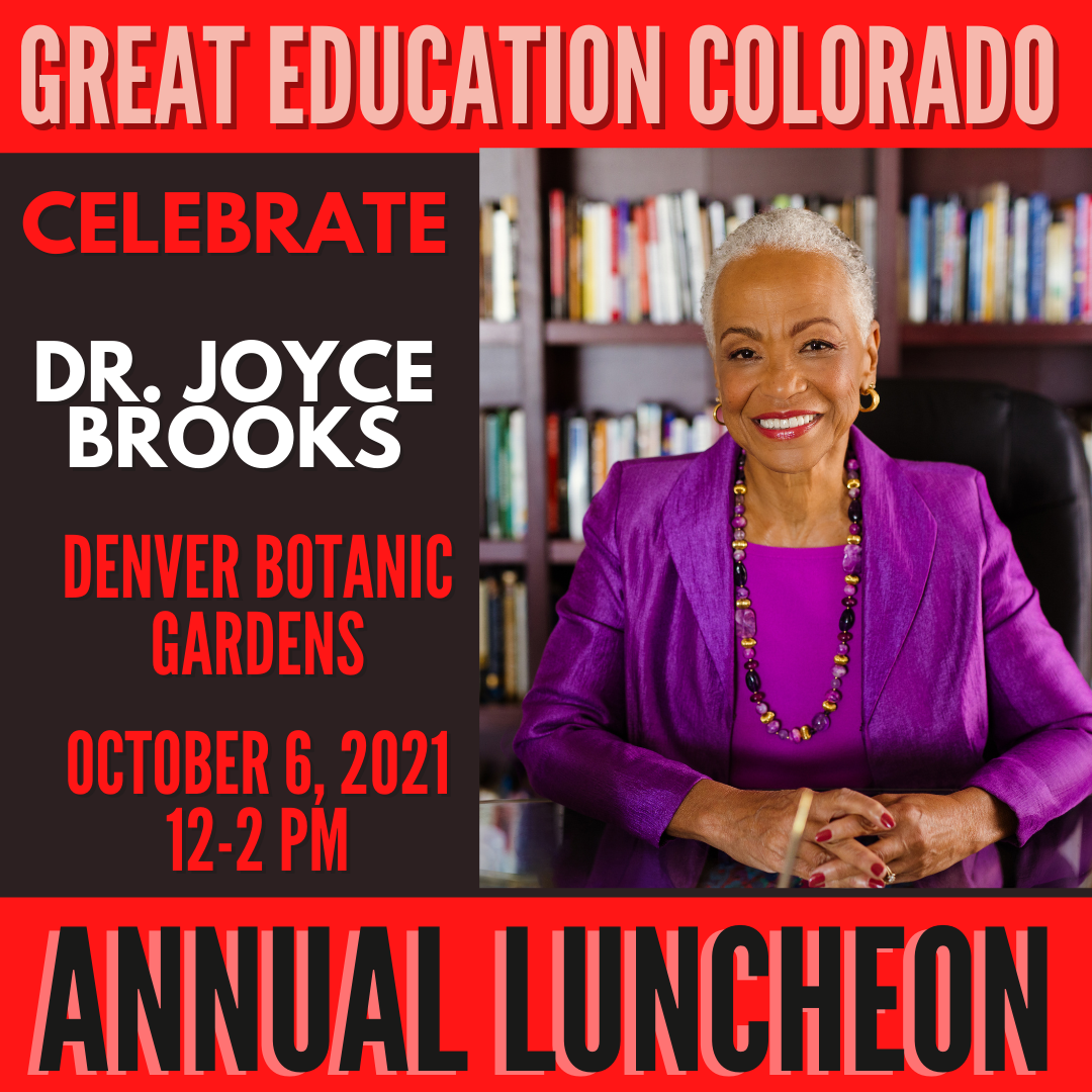 Dr. Joyce Brooks Great Education Colorado 10th Annual Luncheon